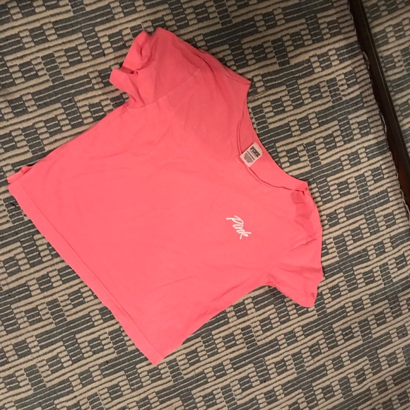 PINK Victoria's Secret Tops - pink cropped shirt